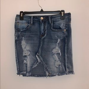 FN denim ripped skirt. Never worn.